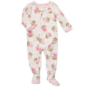 Carters Ballerina Monkey Onesie Footed Pajamas